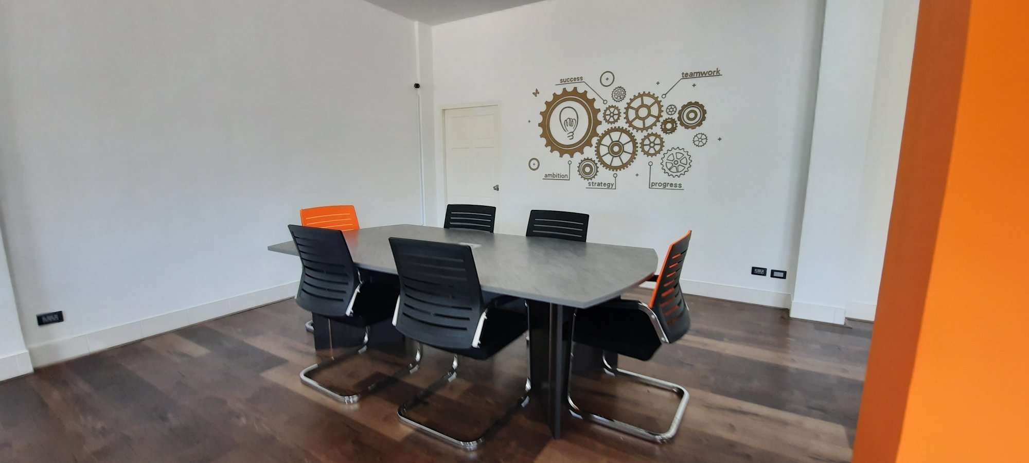 Fusion Graphics Meeting Area